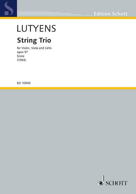 String String String Trio Op. 57 Lutyens, Elisabeth estudio puntuación violín, púrpura y violoncello 9790 6cca84